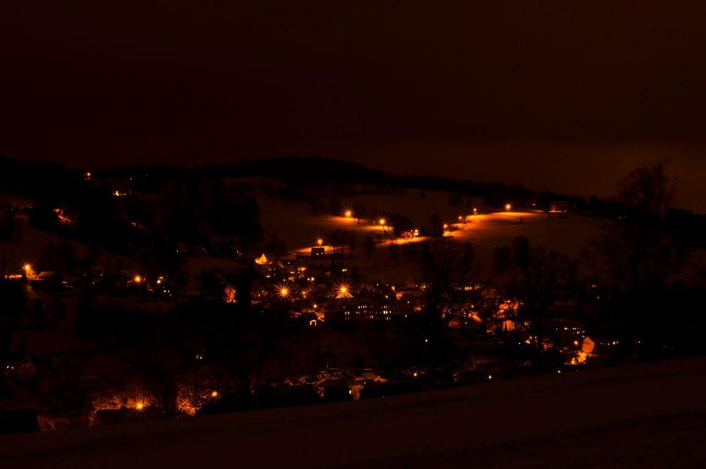 Nachts über Klingenthal