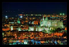 Nachts vom Castell de Bellver...