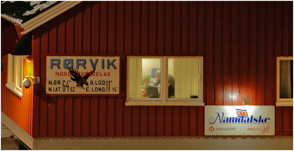 Nachtschicht in Rörvik