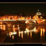 Nachtsicht auf die Ponte Vittorio Emanuele II