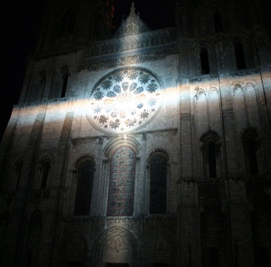 Nachtsspiel in Chartres (Kathedrale)