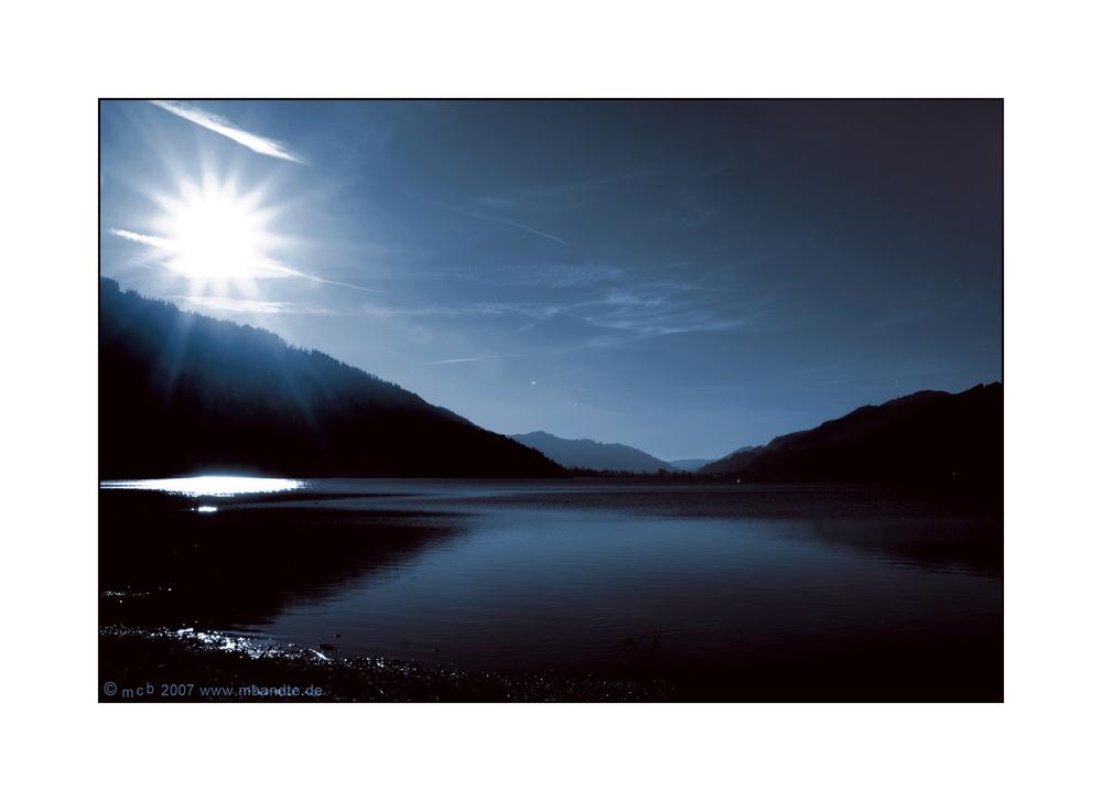 Nachtstimmung am Großen Alpsee