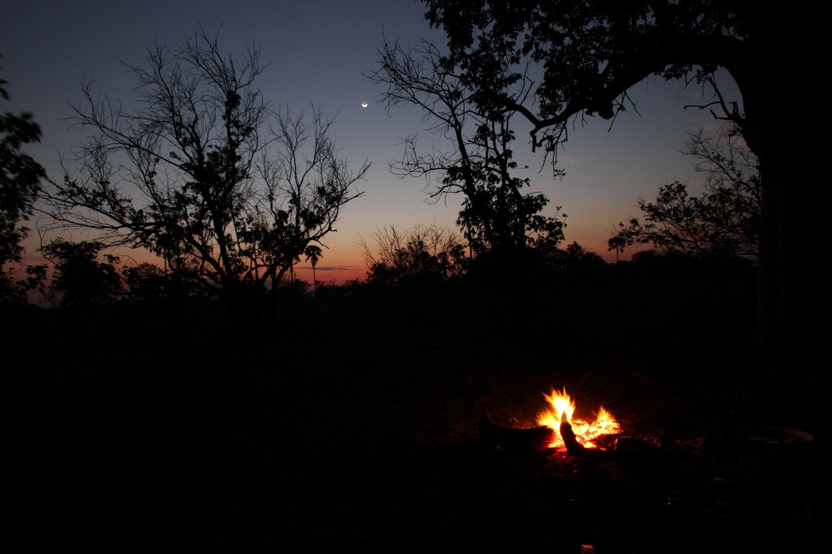 Nachtstimmung im Okawango-Delta