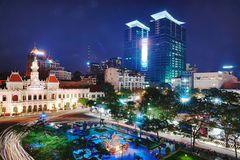 Nachtstimmung in Saigon