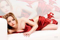 Nadia in red