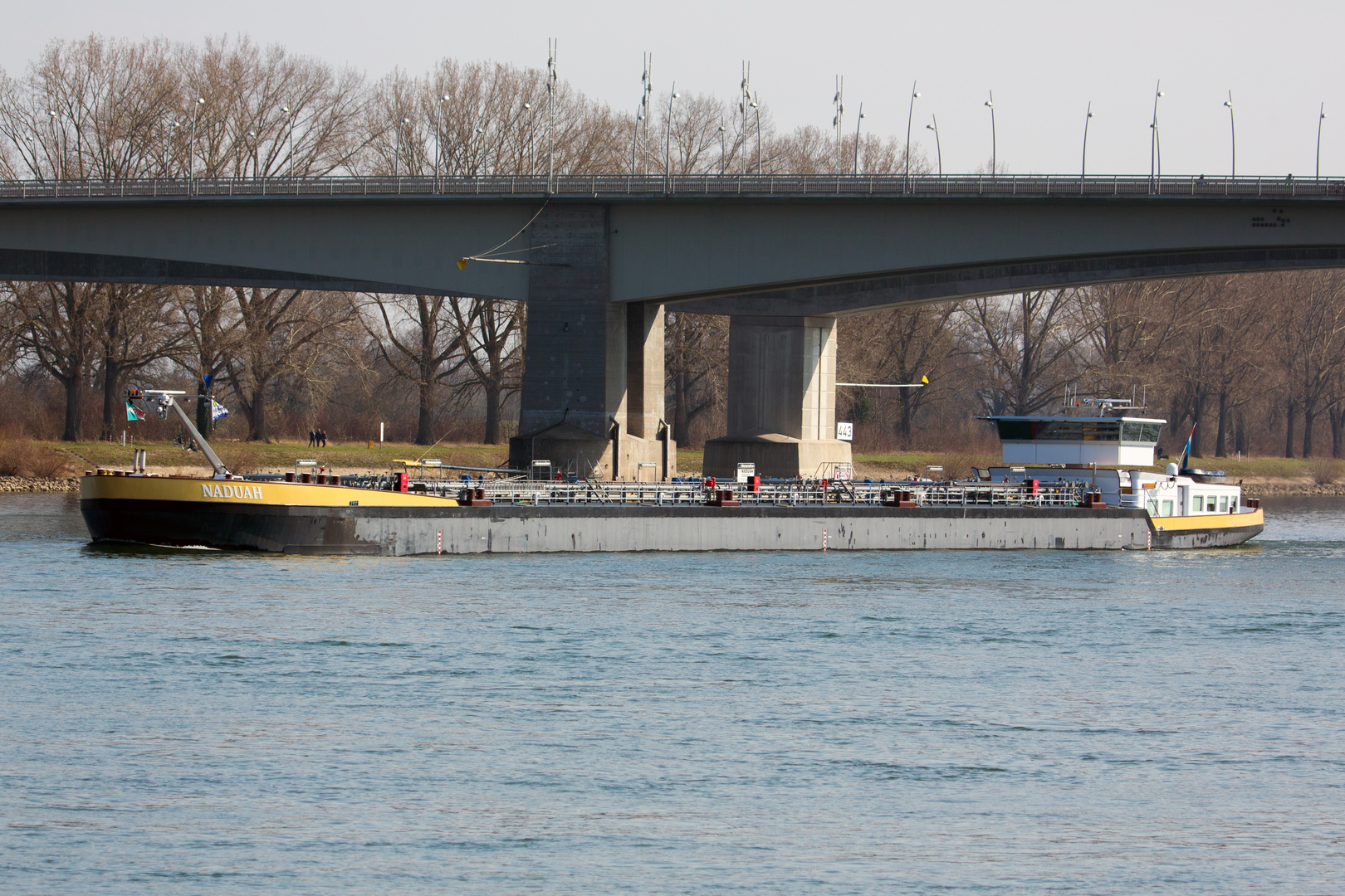 """Naduah"" an Rheinbrücke bei Worms"