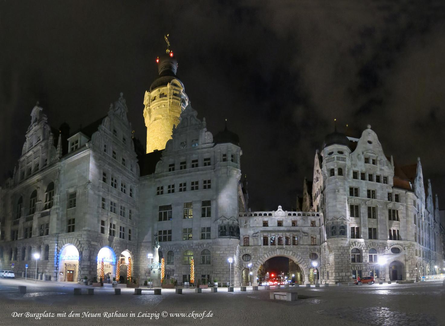 nächtes neues Rathaus Leipzig