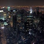 nächtlicher Blick vom Empire State Building