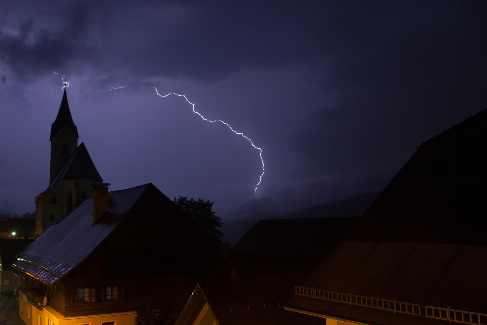 Nächtliches Gewitter über Lassing/Steiermark