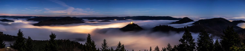 Nächtliches Panorama am Rehbergturm...
