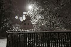 Nächtliches Schneetreiben