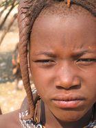Nahaufnahme eines Himbamädchens