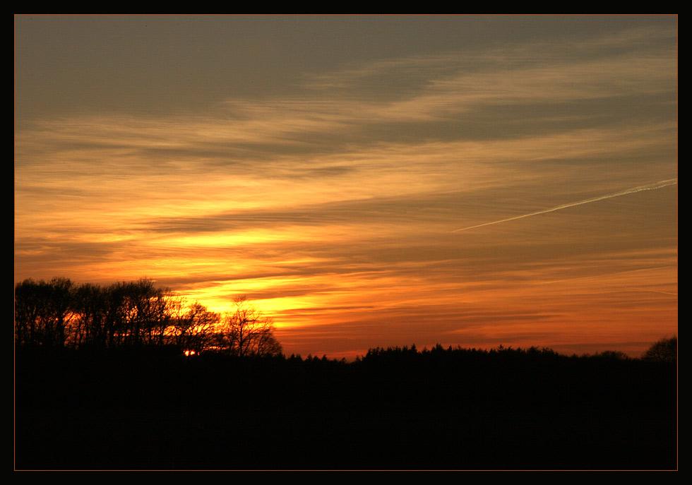 Naja, das war die Ausbeute an Sonnenuntergang...