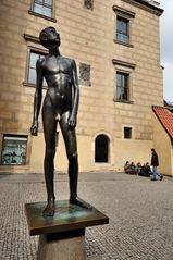 Naked Man Statue at Prague Castle