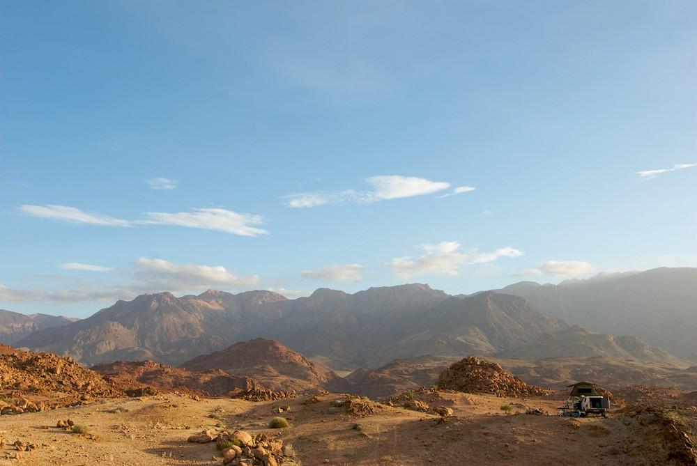 namibia, damaraland mit blick auf den brandberg