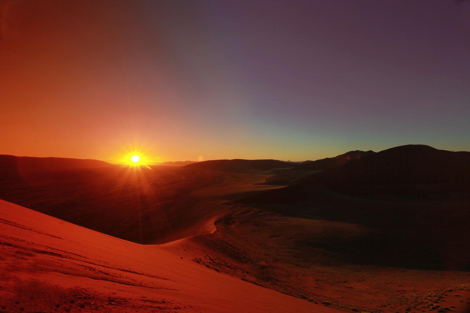 Namibia: Düne 45 Sonnenaufgang