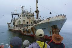 Namibia: Russischer Frachter vor Swakopmund