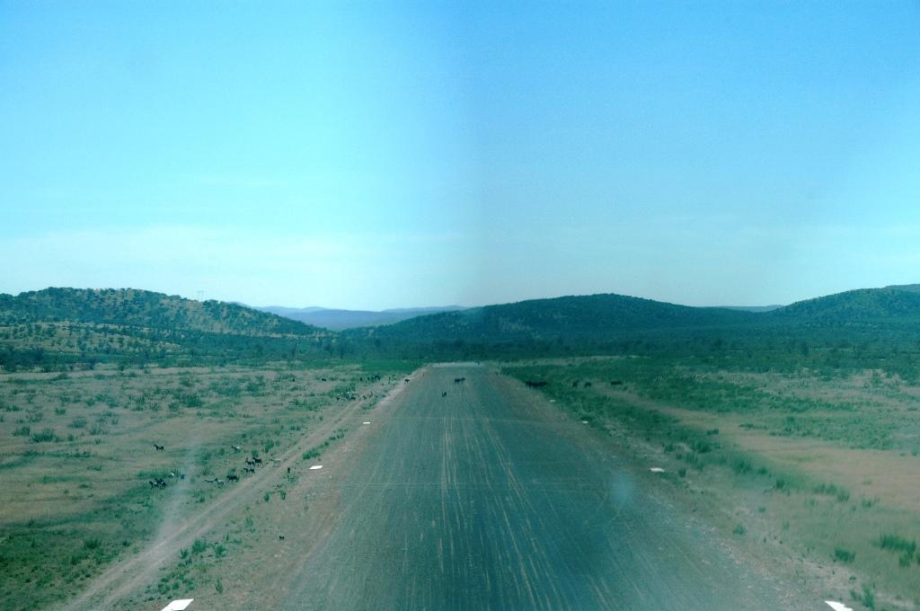 Namibia von oben - Landebahn im sicht
