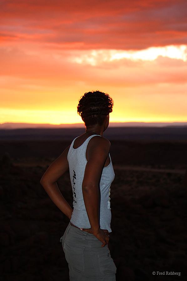 ... Namibian sunset