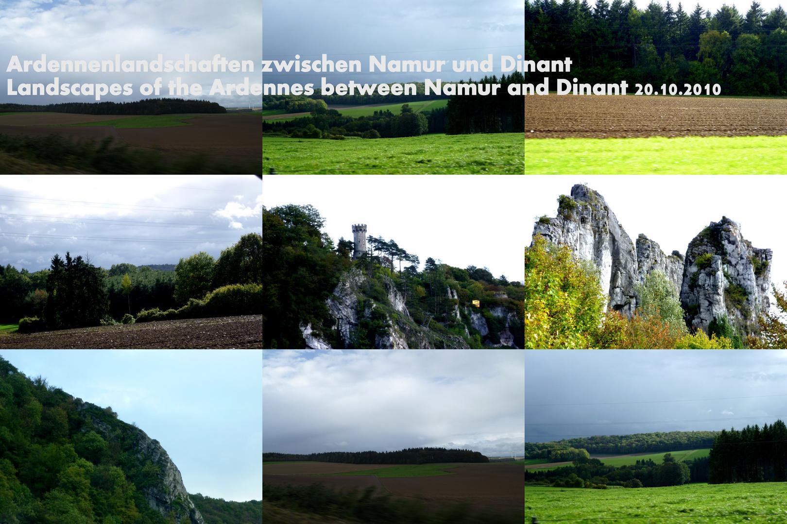 Namur bis Dinant - Landschaften in den Ardennen in Wallonien/ Belgien