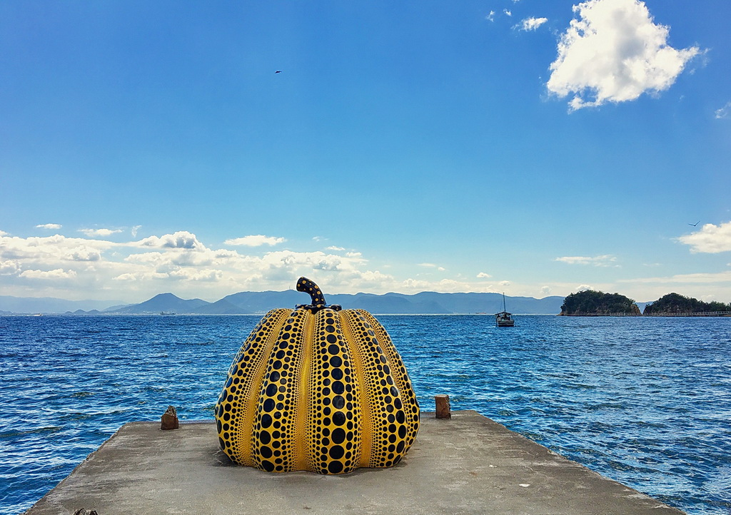 Naoshima -  Yellow pumpkin