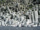 Natürliche Basaltsäulen bei Vik, Island