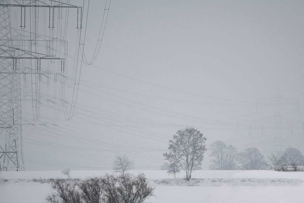 Natur und Technik im Schnee