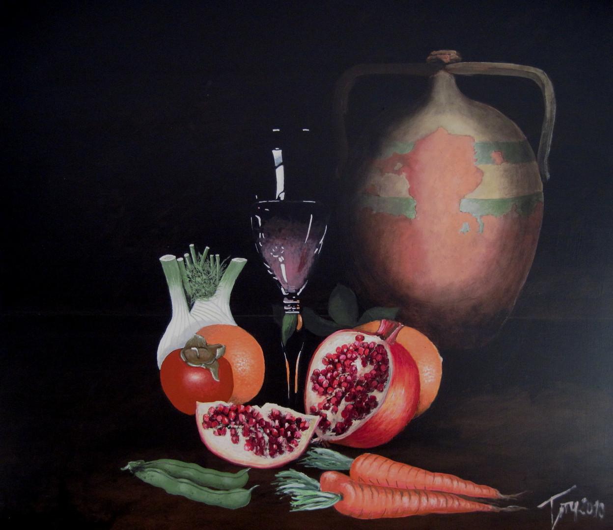 Natura che vive (acrilico su mdf 80x80 artista Luigi Torre)