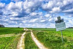 Naturbelassener Radweg