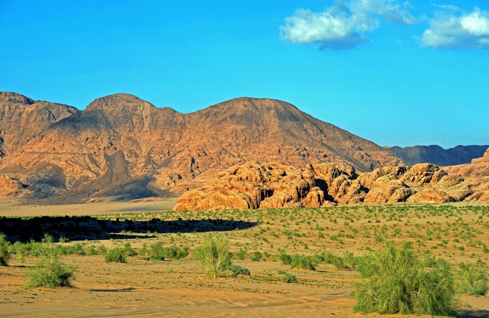 Naturlandschaft im Wadi Rum