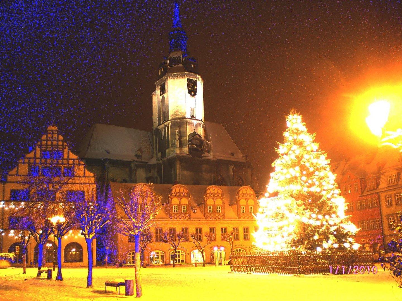 Naumburg - Marktplatz zu Neujahr