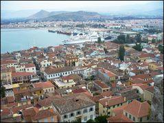 Nauplia - Blick auf die Bucht von der mittleren Festung