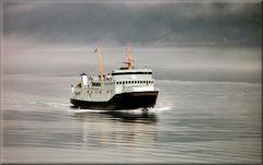 * Nave della carriera regolare tra città al fiordo di Geiranger *