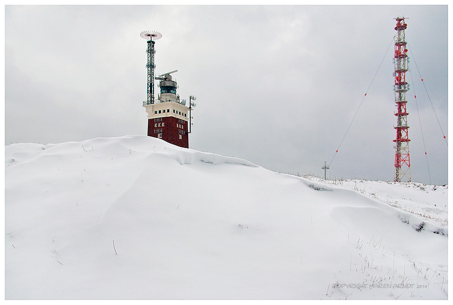 Ne Menge Schnee auf Helgoland ..
