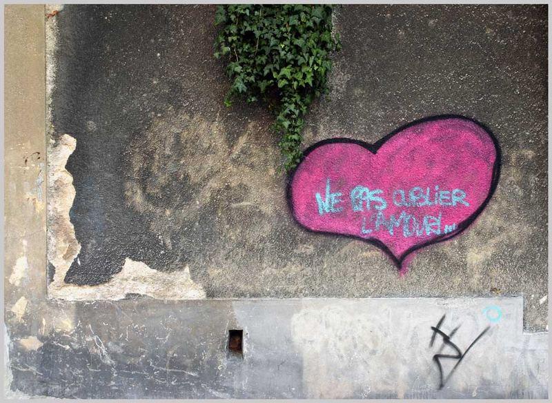 ne pas oublier l'amour!