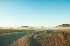 Nebel am Rande der Namib