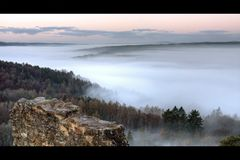 Nebel im Saaletal