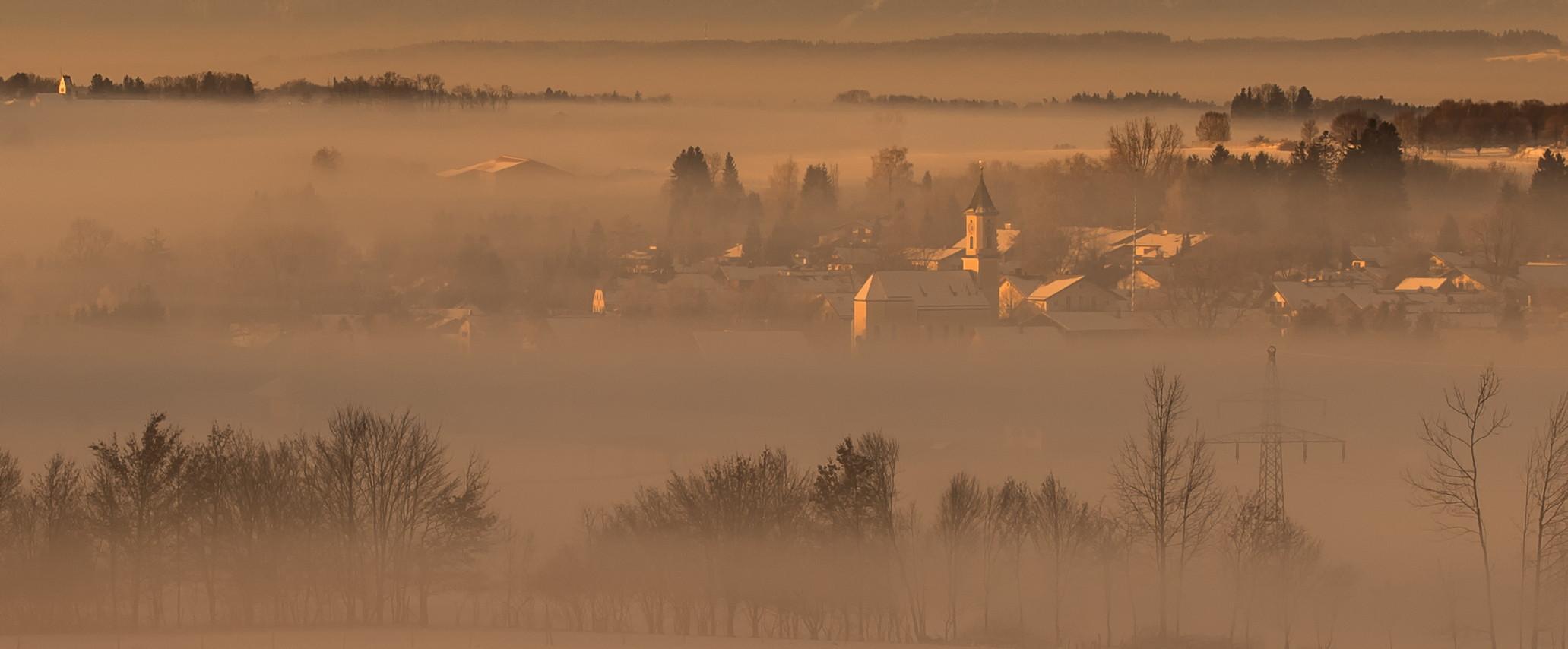 Nebel in den Niederungen