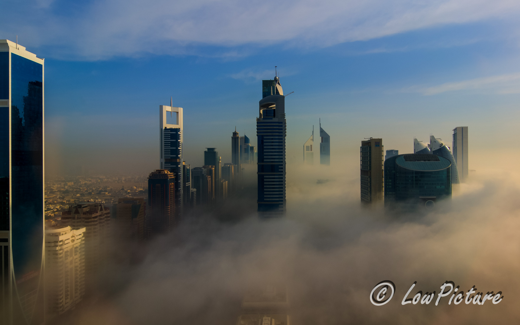Nebel in der Sheikh Zahyed Road Dubai