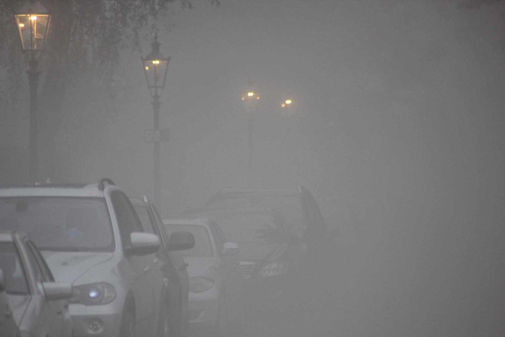 Nebel nach Hagel-Gewitter
