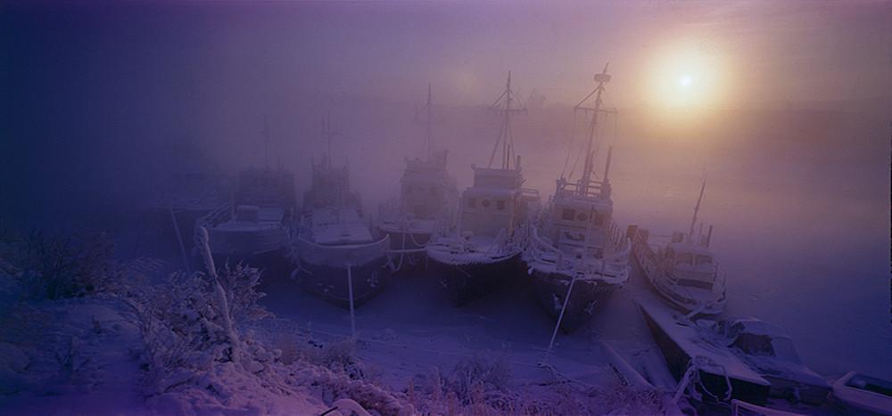 Nebel- Nordsibirien