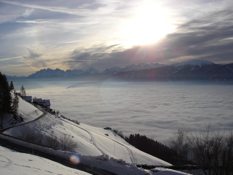 Nebel über Bruneck