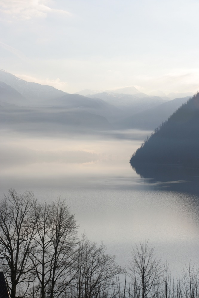 Nebel über dem Grundlsee