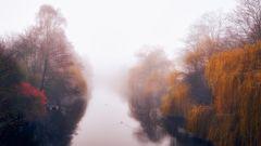 Nebel über dem Kanal