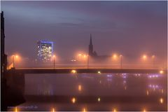 Nebel über der Weser