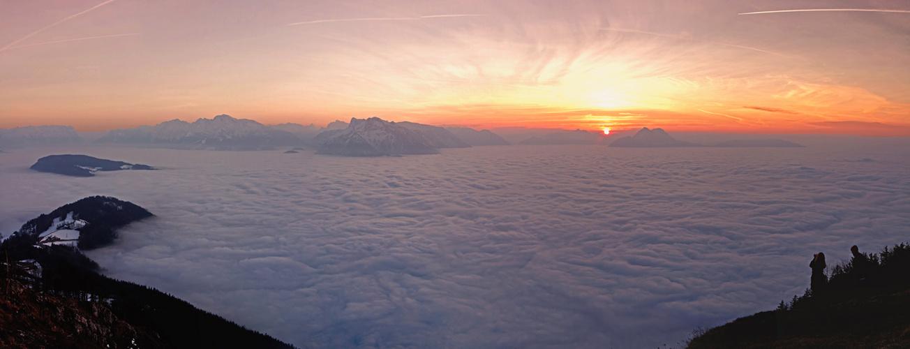 Nebel über Salzburg