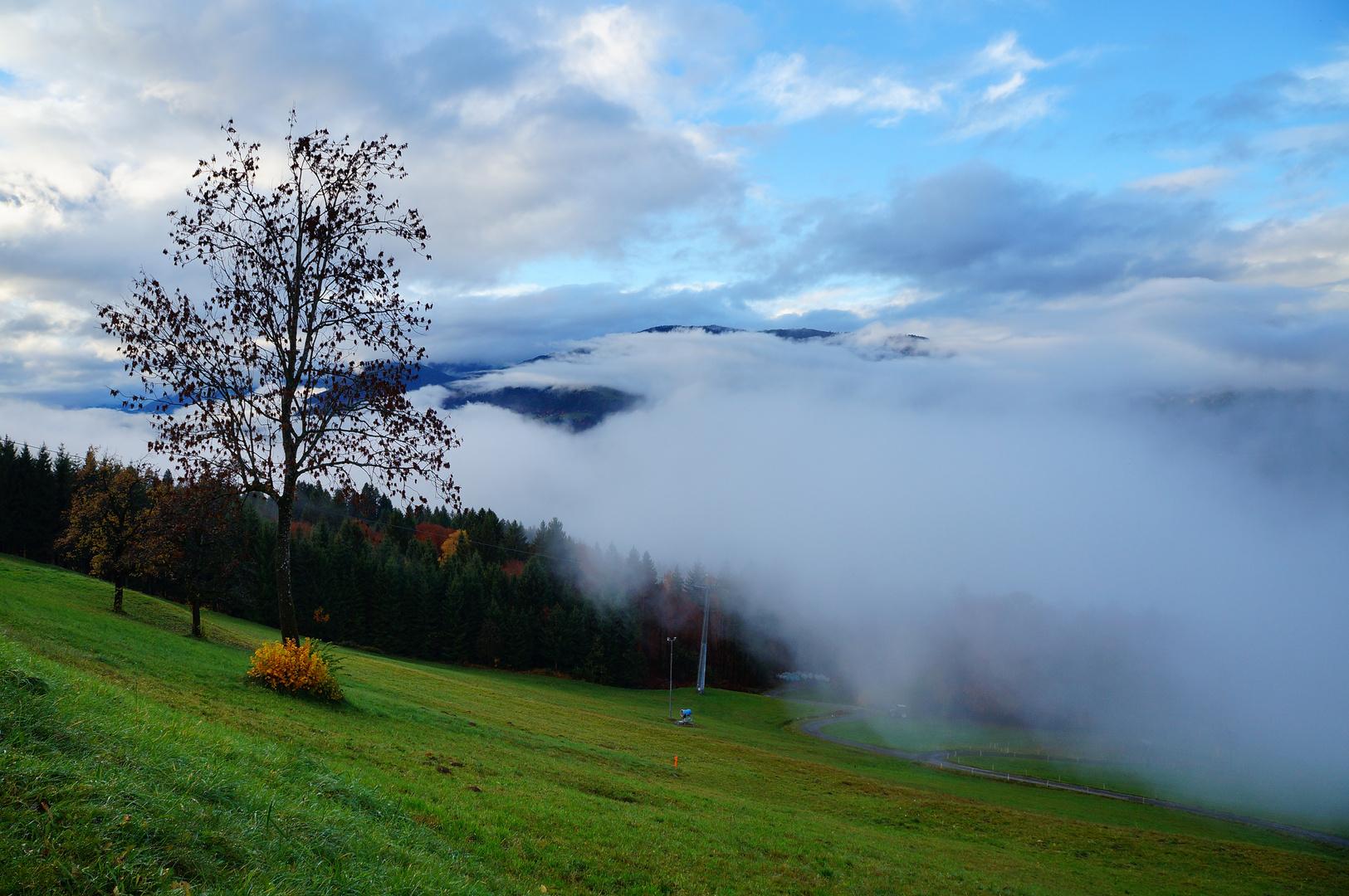 Nebel über Tröpolach