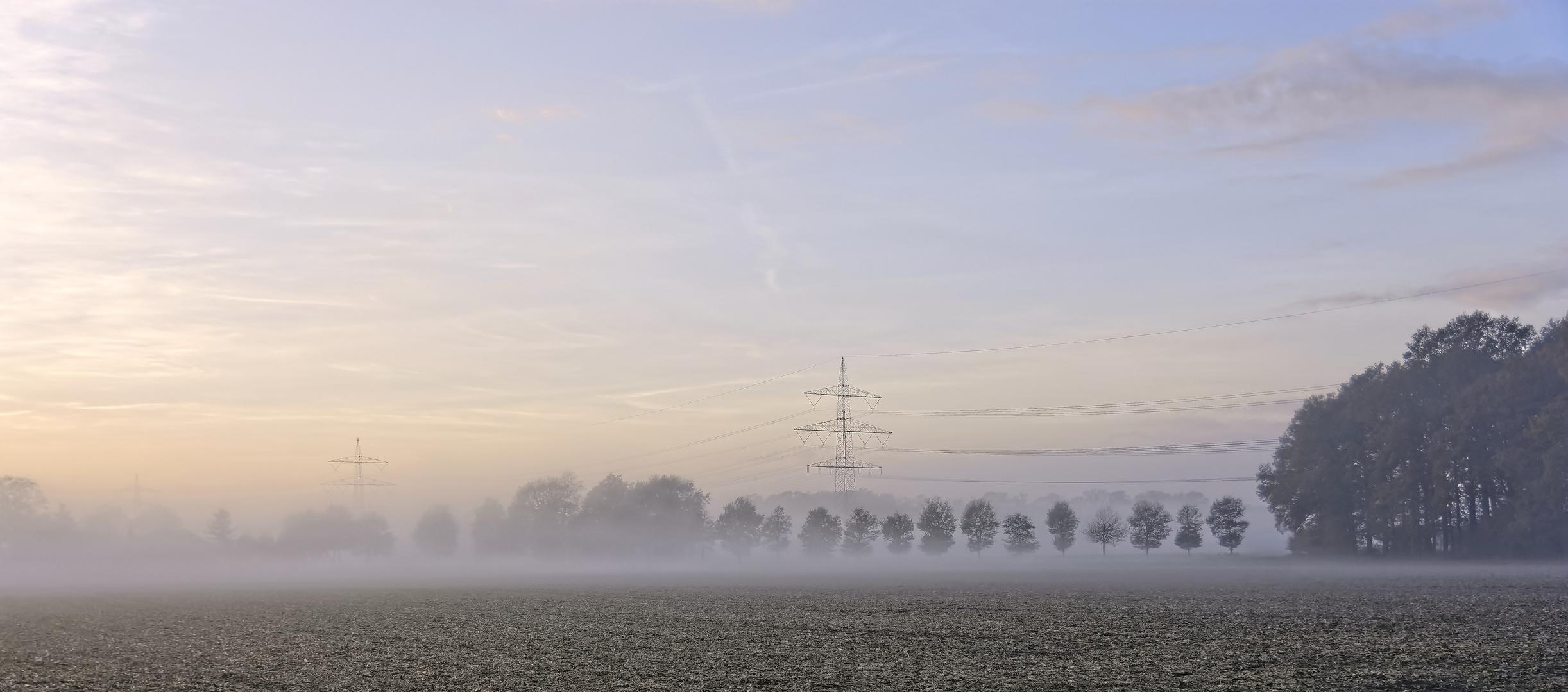 Nebel unter Hochspannung
