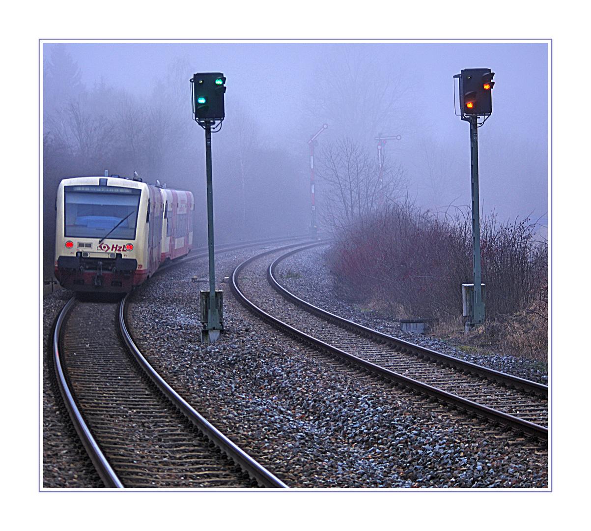 Nebelfahrt mit dem Regio Shuttle
