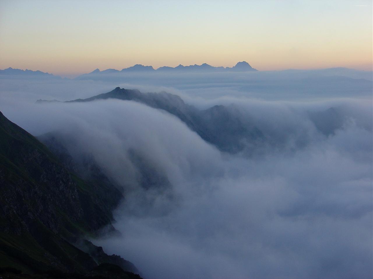 Nebelfall am Nebelhorn